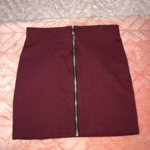 H&M Burgundy Skirt